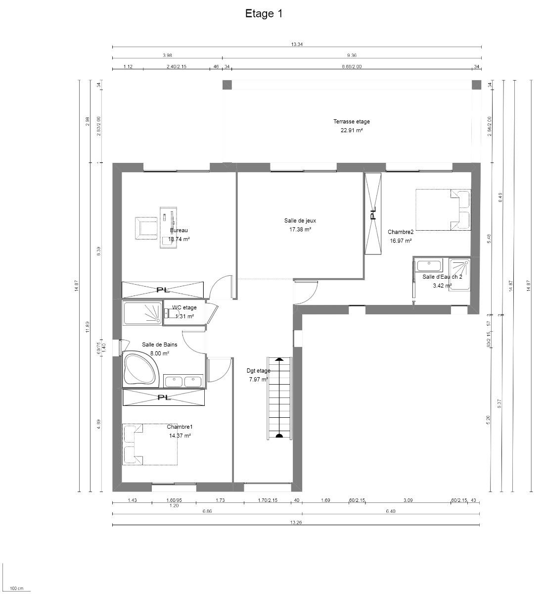 Vente sainte foy les lyon maison contemporaine de 235 m for Garage ste foy les lyon